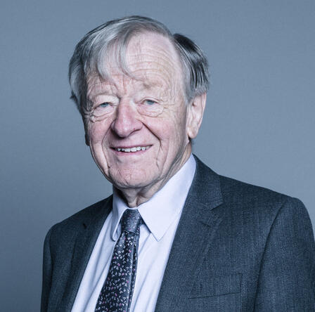 Portrait shot of Lord Alf Dubs