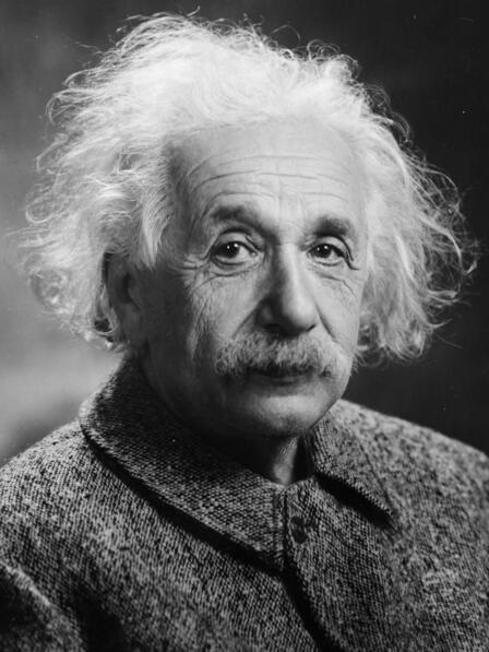Portrait photo of Albert Einstein