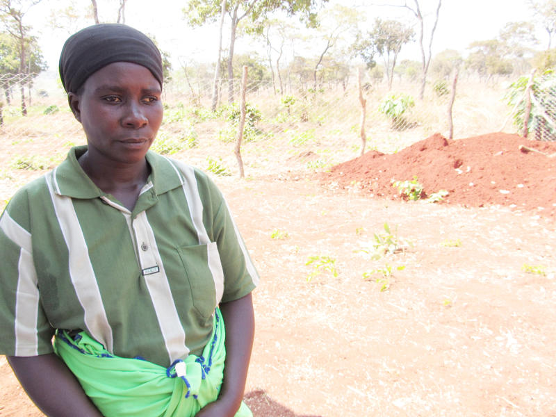 Burundian refugee woman at Nyarugusu camp, pregnant with her fourth child.