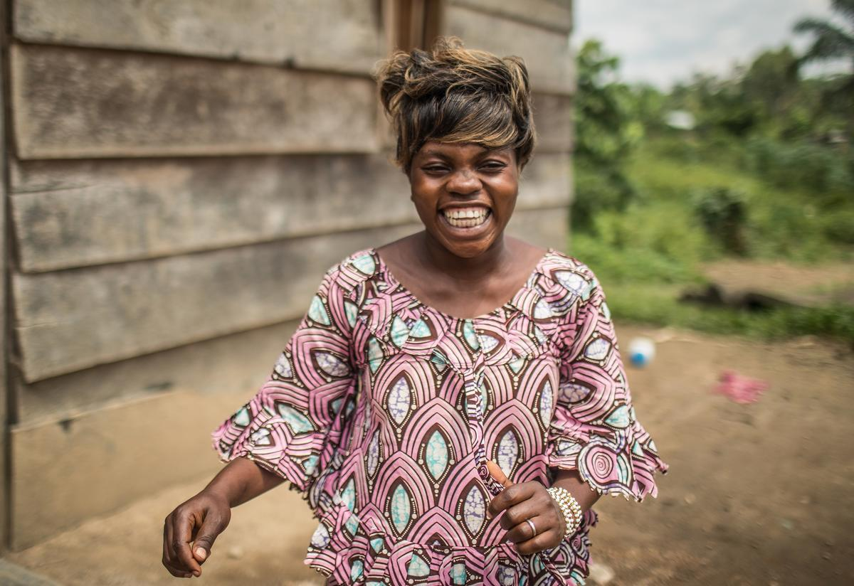 Eugenie Kahambu Kiyora, 23, works as a nurse at the Mangina Health Center in Mabalako, where the current outbreak started. She would see eight to 10 people die from Ebola each day. She contracted the virus when providing treatment to a patient—just a few