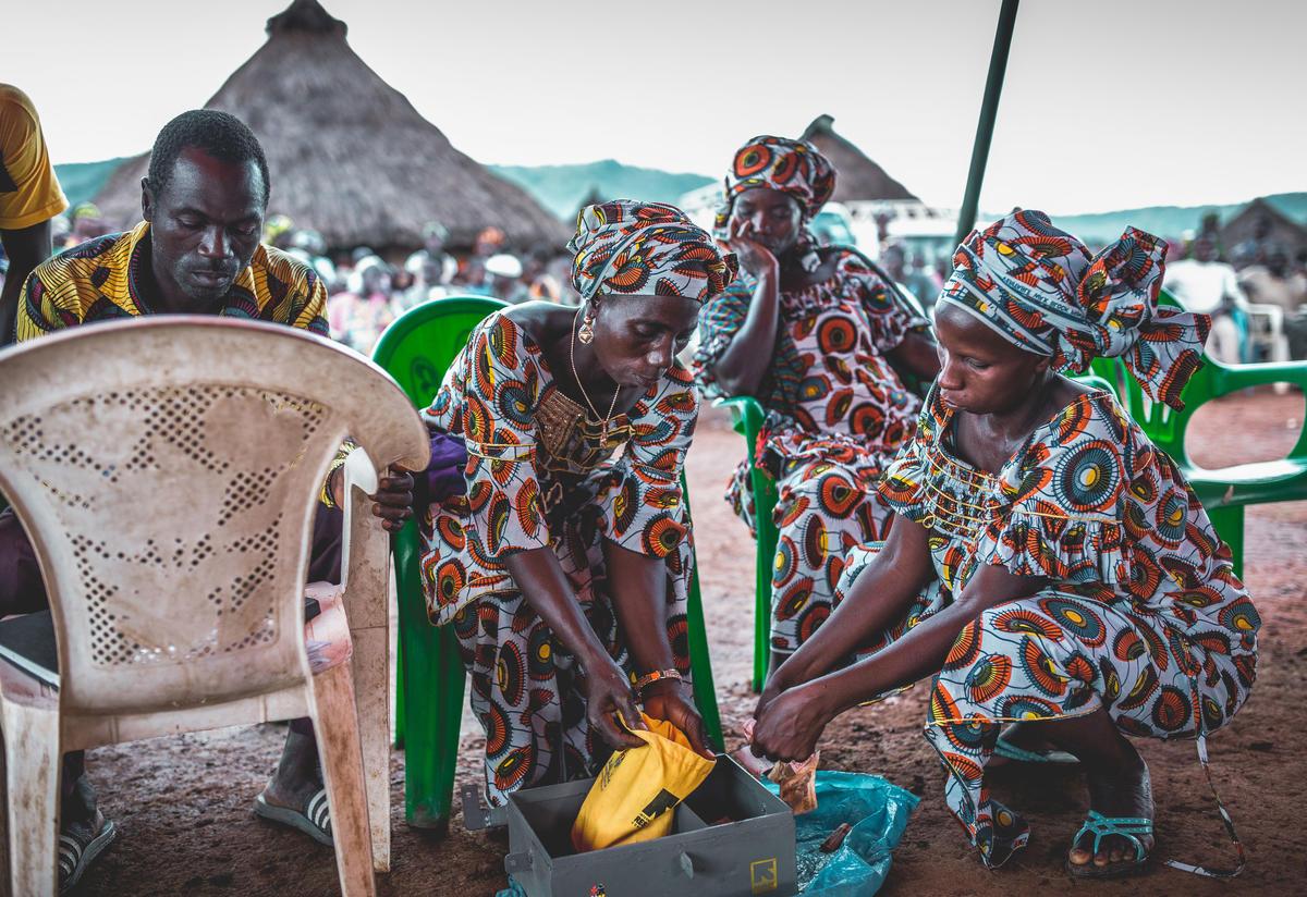Women from an IRC village savings and loans association