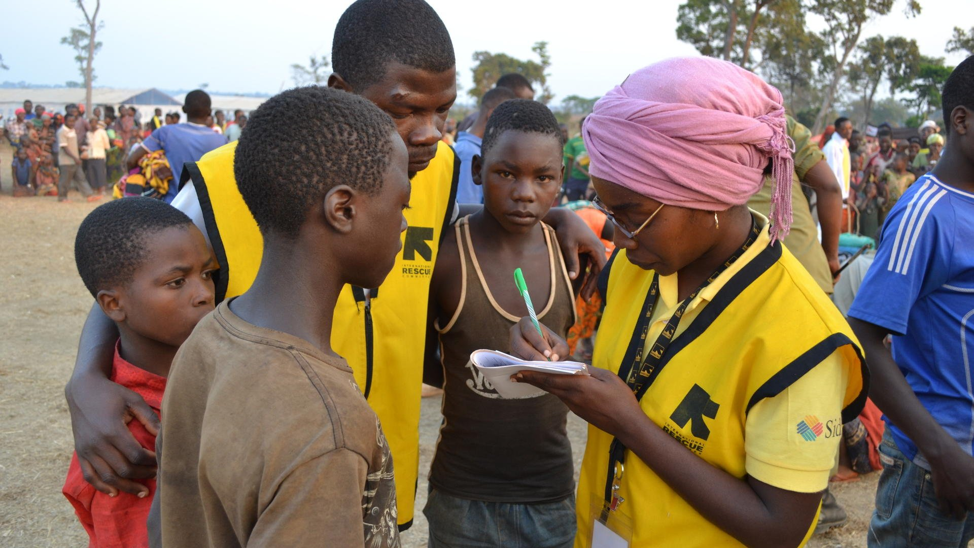 International Rescue Committee staff are working to reunite families in Nyarugusu refugee camp, Tanzania.