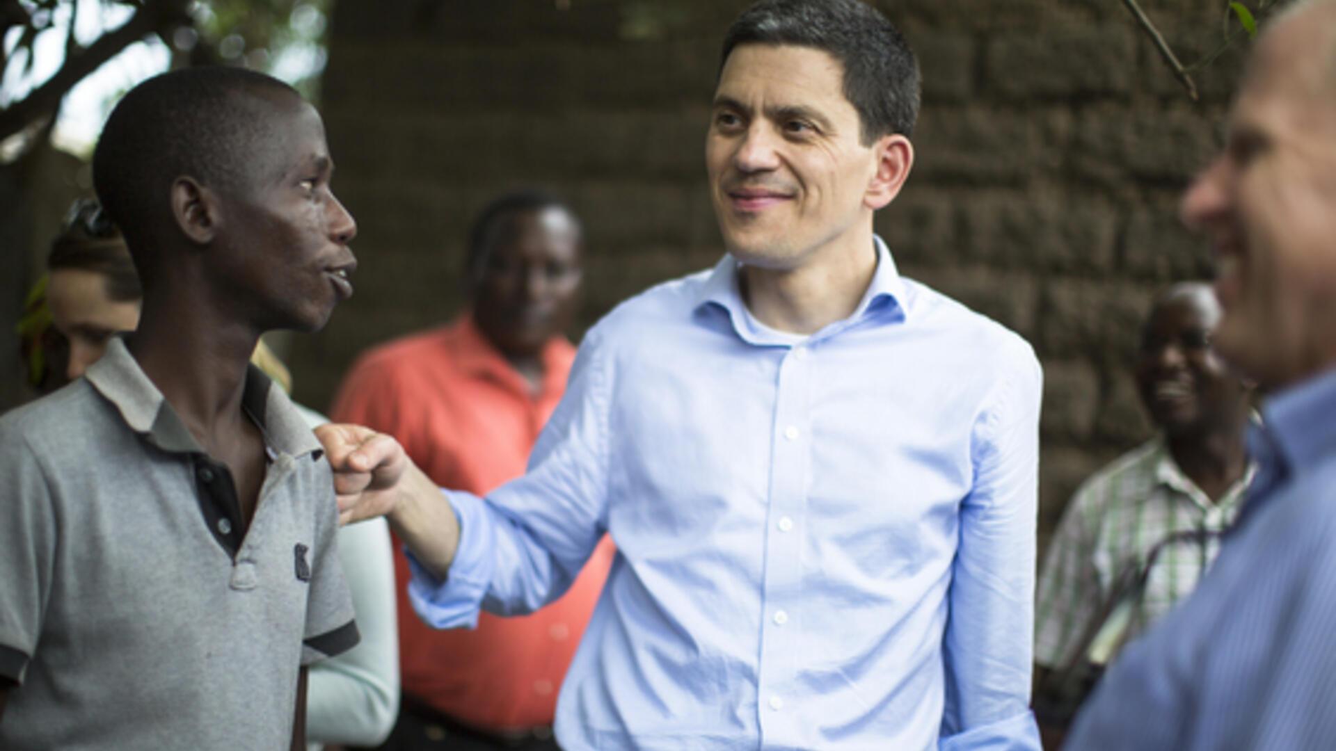 David Miliband in Burundi