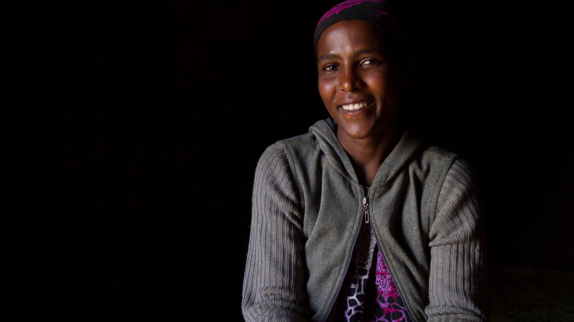 Ethiopian Sheyte Amdu smiling