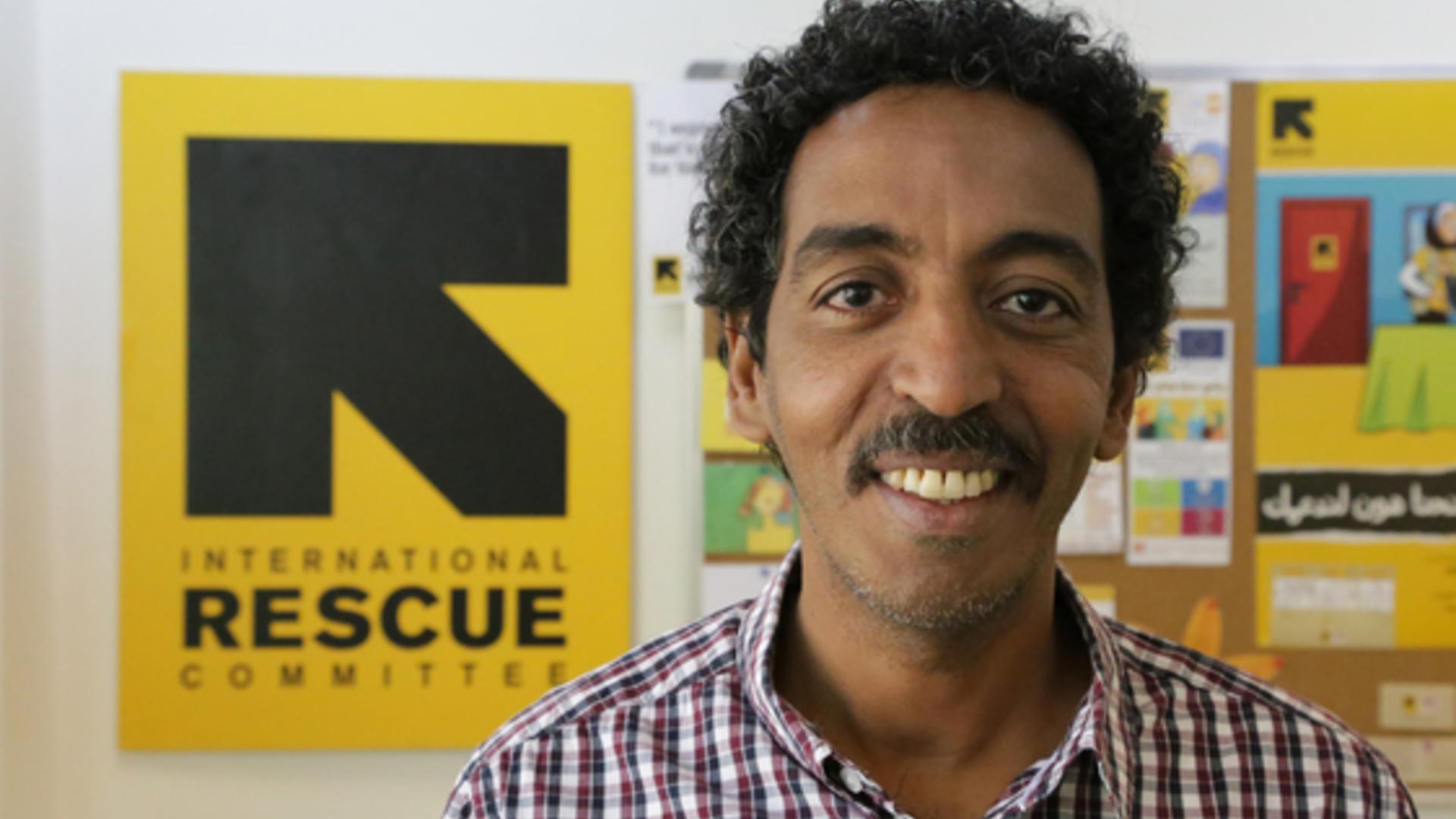 IRC aid worker Mustafa Hassan
