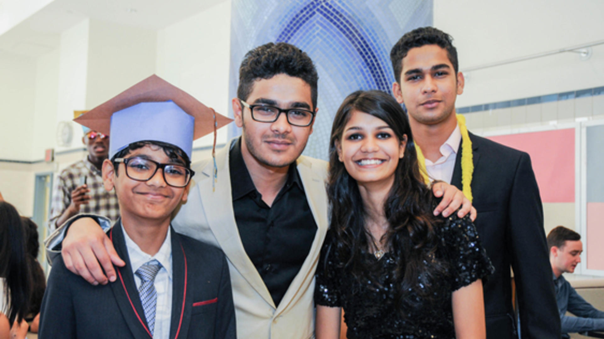 Zain and siblings at the Refugee Youth Summer Academy