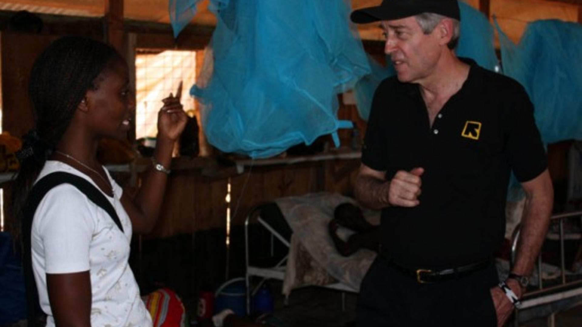 George Rupp talks with Dr. Carol Mwangi